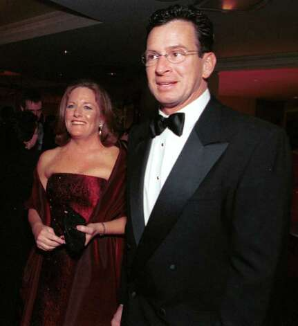 Stamford Mayor Dan Malloy and wife Cathy, at the 2002 inaugural ball held at the Stamford Marriott. Photo: File Photo\Steven Daniel / Stamford Advocate File Photo