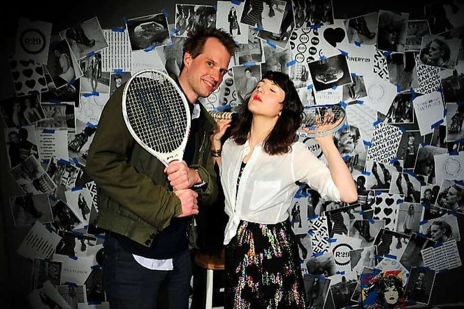 Refinery 29 Founder Philippe Von Borries and R29 Creative Director  Piera Gelard ham it up in the special photo booth at the fashion website's San Francisco edition party April 28 at Sloane in San Francisco Photo: SPREADhouse.