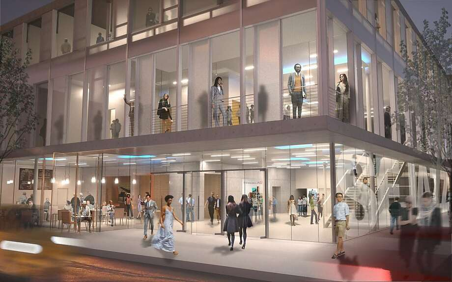 Architect's rendering for the new home of SFJazz. Ground was broken for the building on Friday (5/6) Photo: Courtesy Of Mark Cavagnero Archi