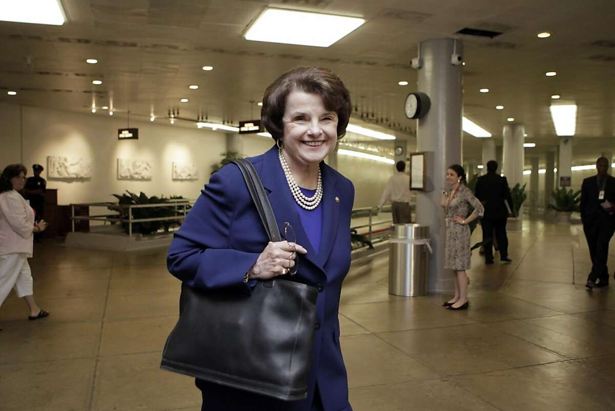 Sen. Dianne Feinstein, D-Calif., chair of the Senate Intelligence Committee, walks to a closed intelligence briefing with CIA Director Leon Panetta at the Capitol in Washington, Tuesday, May 3, 2011.
