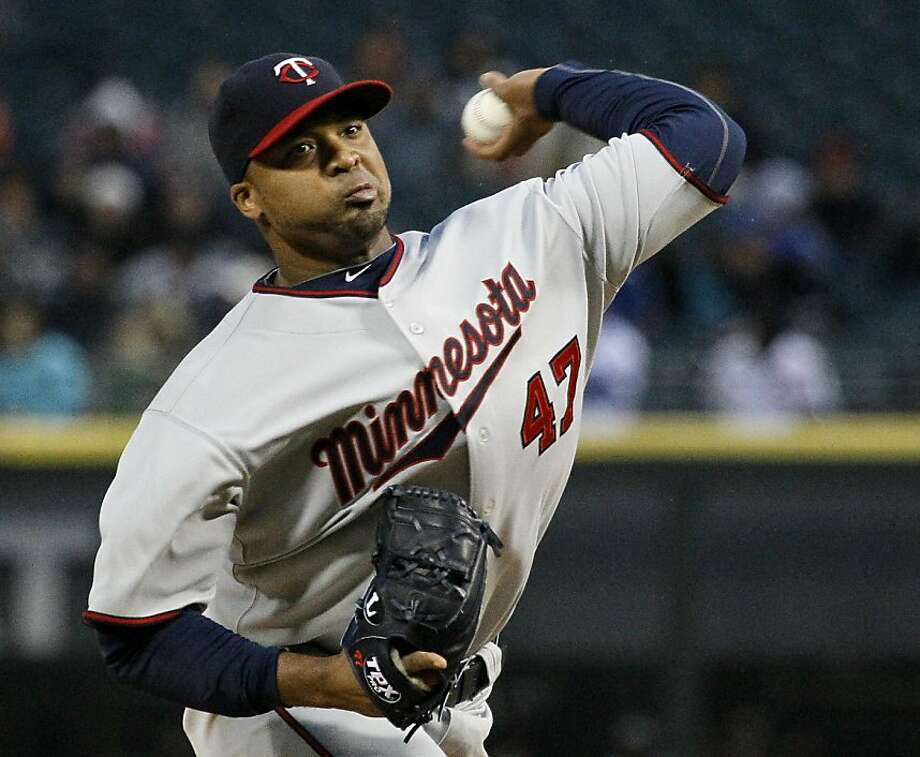 Minnesota Twins starting pitcher Francisco Liriano delivers during the first inning of a baseball game against the Chicago White Sox Tuesday, May 3, 2011 in Chicago. Photo: Charles Rex Arbogast, AP