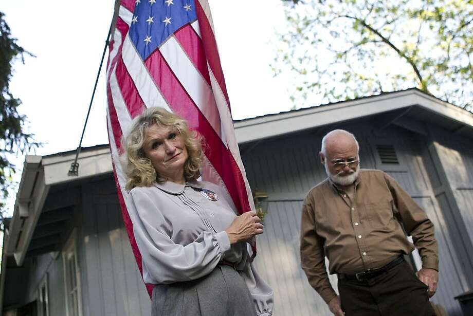 Alice Hoagland, the mother of Mark Bingham, stands for a portait outside her home with her brother Linden Hoagland in Redwood Estates, Calif., on Monday, May 2, 2011.  Bingham died on 9/11 on United Airlines Flight 93 and was one of the passengers who stormed the cockpit in an attempt to regain control of the plane from the hijackers. Photo: Laura Morton, Special To The Chronicle