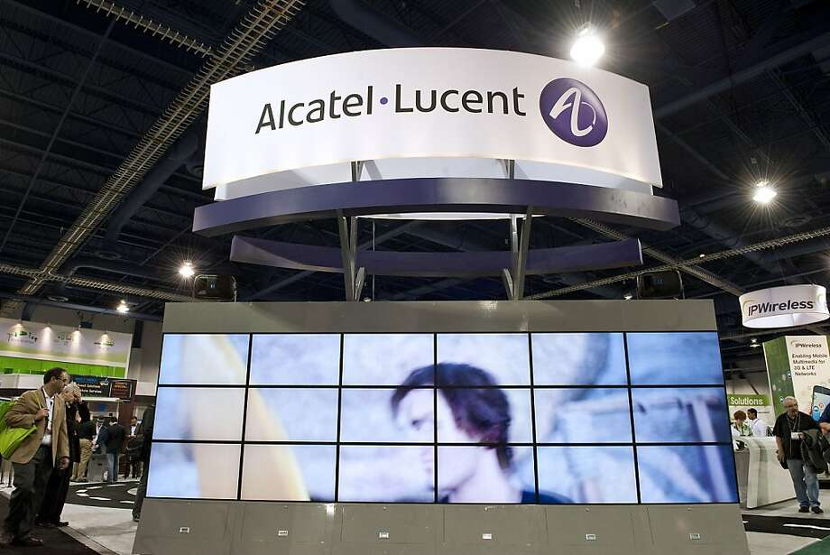 Signage for Alcatel-Lucent SA sits on display during the 2011 International Consumer Electronics Show (CES) in Las Vegas, Nevada, U.S., on Friday, Jan. 7, 2011. The 2011 CES tradeshow features 2,500 global technology companies presenting consumer tech products and is expected to draw over 100,000 attendees. Photographer: Jacob Kepler/Bloomberg Photo: Jacob Kepler, Bloomberg