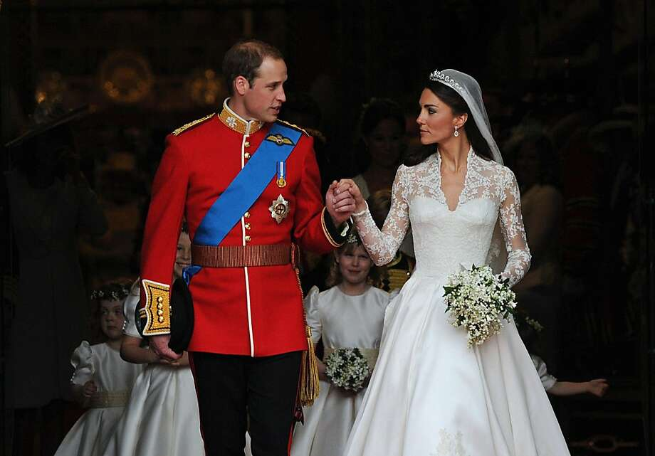 Britain's Prince William and his wife Kate, Duchess of Cambridge, come out of Westminster Abbey following their wedding ceremony, in London, on April 29, 2011. Photo: Carl De Souza, AFP/Getty Images