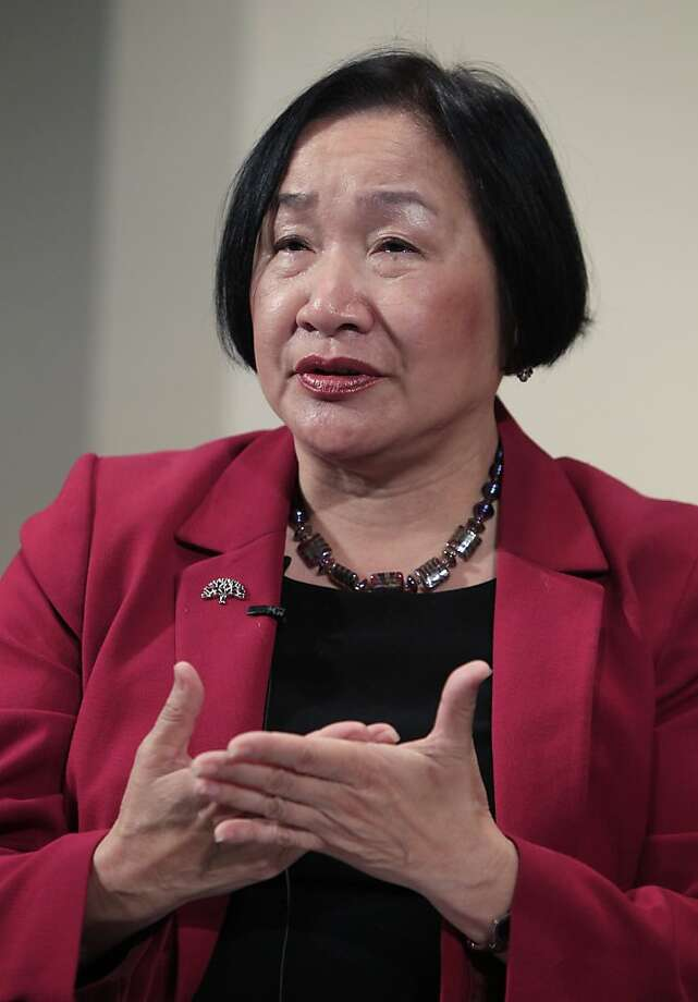 Oakland Mayor Jean Quan gestures during the 8th Annual CEO Summit at IBM offices in San Jose, Calif., Friday, April 22, 2011. Photo: Paul Sakuma, Associated Press