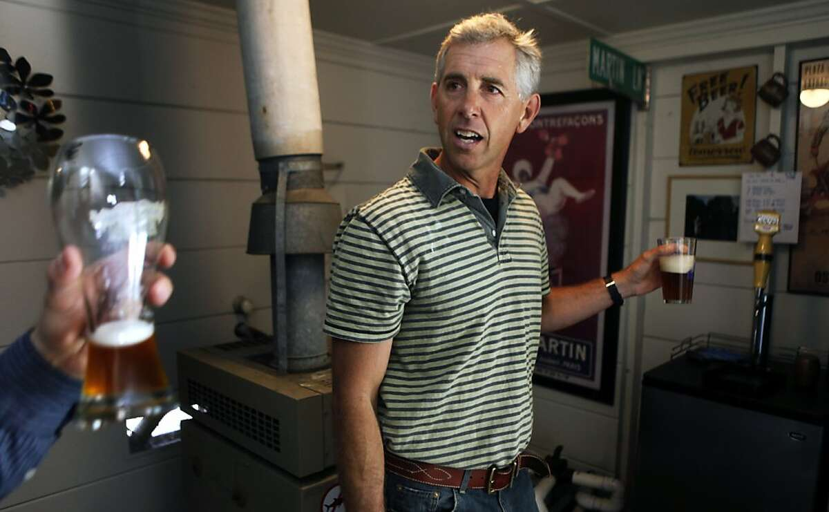 KTVU meteorologist Bill Martin besides being a regular in the Ocean Beach surf crowd, he is an avid home brewer. Nightly he gives his viewers both Bay-Area and the national weather reports but his hart is with the surf report. The UC Berkeley grad and longtime Bay Area resident grew up in the Bay Area, on his surfboard, now with an advantage being an AMS certified meteorologist he knows where to go and what to expect when he gets there. Thursday, April 28, 2011.