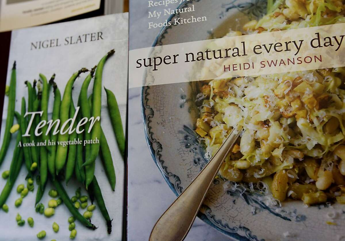 Detail of two new and local authors at Omnivore Books. Cook books are back in vogue and stores like Omnivore Books in San Francisco, Calif. are selling books with new and local authors.