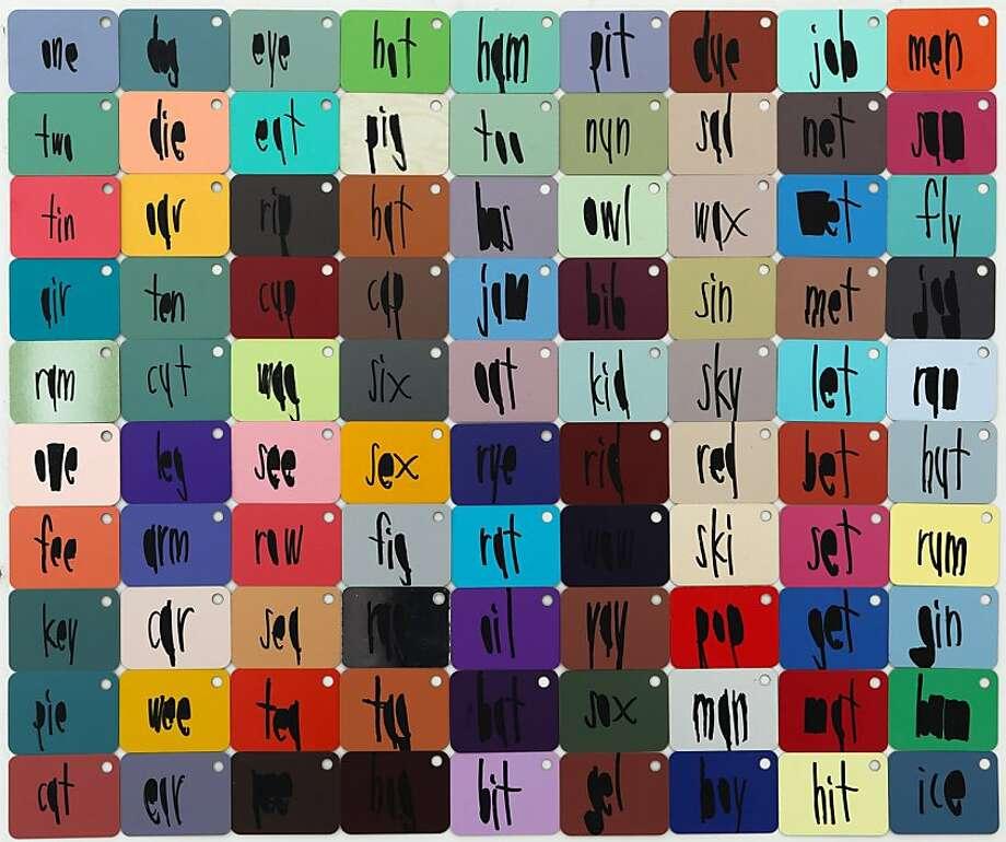 "John Patrick McKenzie's ""OneTwoTin,"" part of the exhibition at Creativity Explored. Photo: Creativity Explored"