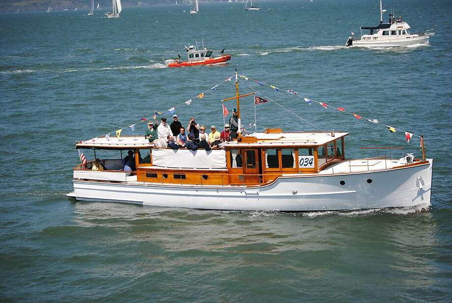 The Pat Pending, a 50-foot-long motor yacht, has led the parade that opens yacht season. Photo: Courtesy Of The Owen Family