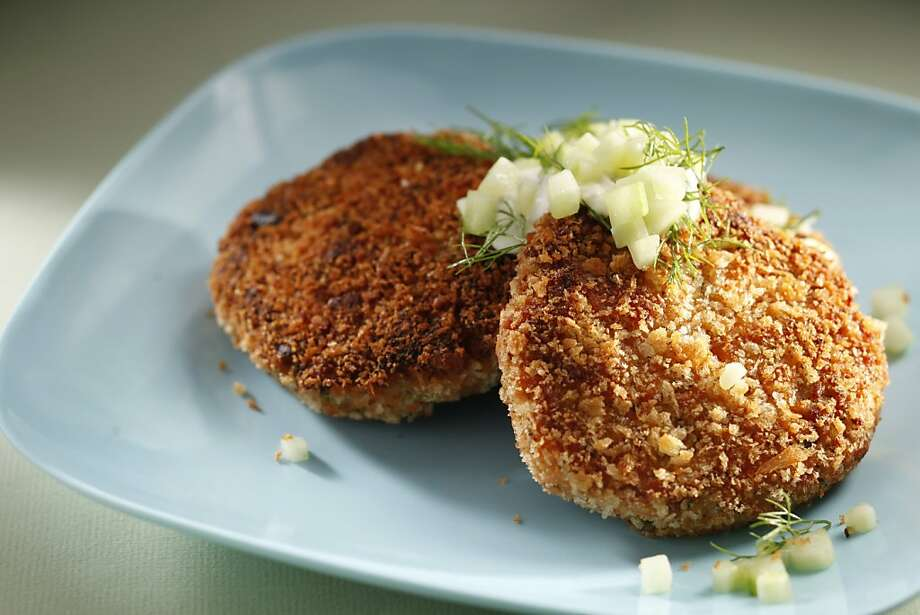 Salmon patties as seen in San Francisco, California, on Wednesday April 20, 2011. Food styled by Sarah Fritsche. Photo: Craig Lee, Special To The Chronicle