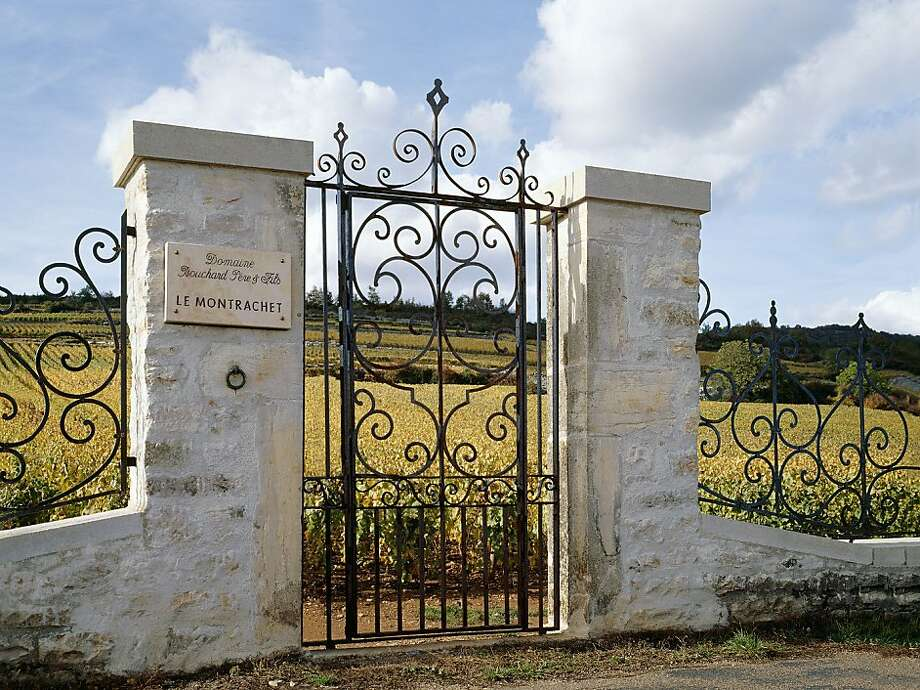 A gate to the vineyard of Montrachet, perhaps Burgundy's most famous site for its white wines. Photo: Bouchard Pere Et Fils
