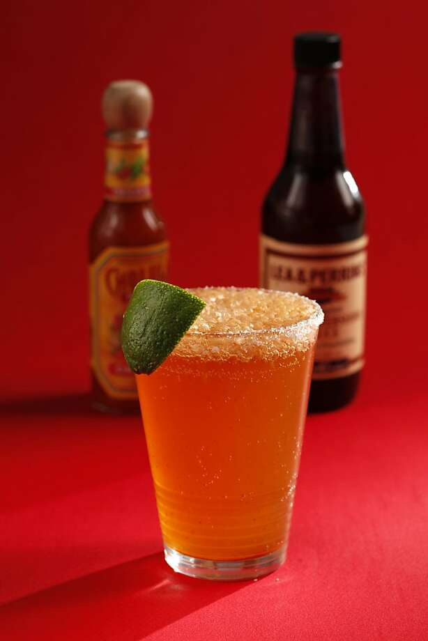 Michelada (beer plus hot sauce, lime, worcestershire) as seen in San Francisco, California, on Wednesday April 20, 2011. Photo: Craig Lee, Special To The Chronicle