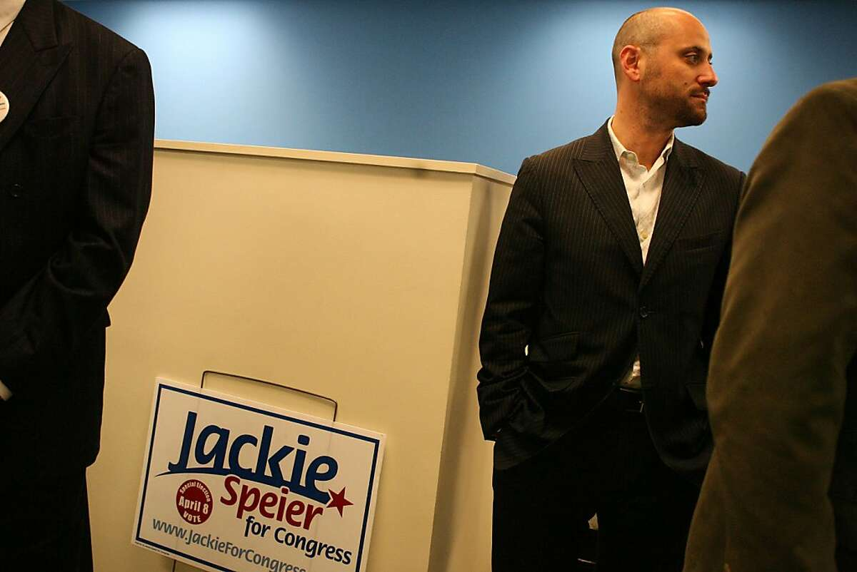 Alex Tourk attends a campaign event for Jackie Speier, who is running in an April 8 special election to replace the late Rep. Tom Lantos in his congressional seat at an insurance office in the Sunset district in San Francisco, Calif. on March 27,2008. Photo by Mark Costantini / San Francisco Chronicle.
