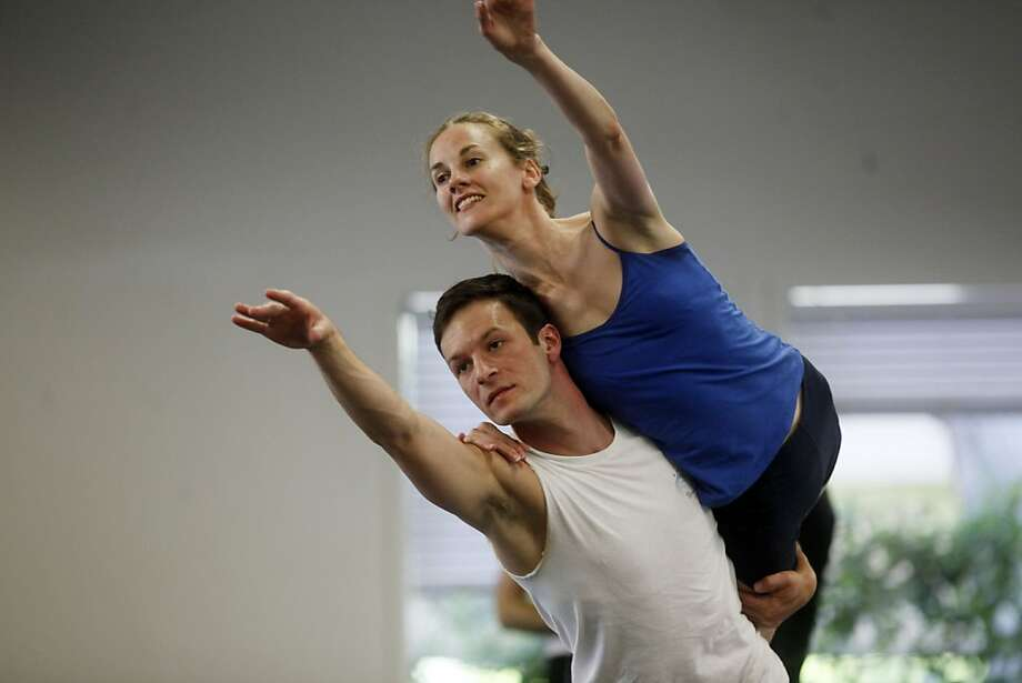 """Working on the duet from Gustav'e """"Rooster with dancer Katherine Wells,"""" Rory Hohenstein, rehearses with the Diablo ballet on Monday May 2, 2011 in Walnut Creek, Calif. Photo: Mike Kepka, The Chronicle"""