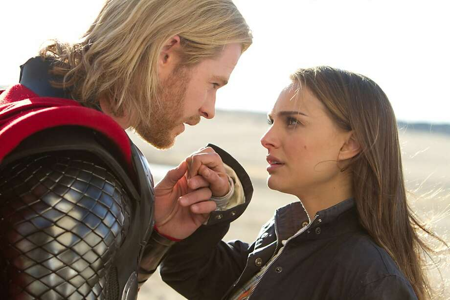 Chris Hemsworth stars as Thor and Natalie Portman as Jane Foster in THOR, from Paramount Pictures and Marvel Entertainment. (Marvel Studios/MCT) Photo: Marvel Studios