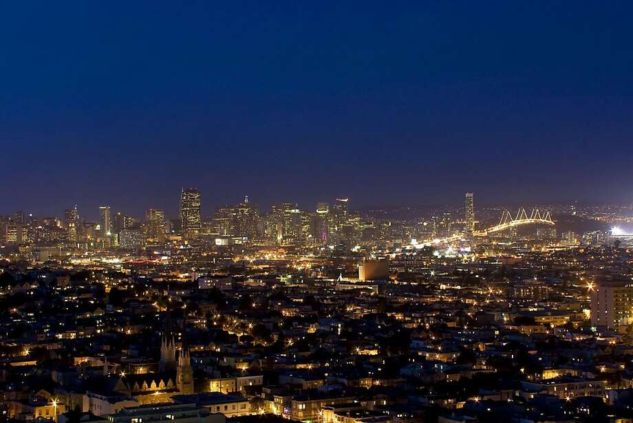 This is a view from 2 Everson at night. Photo: Steph Dewey, Reflex Imaging