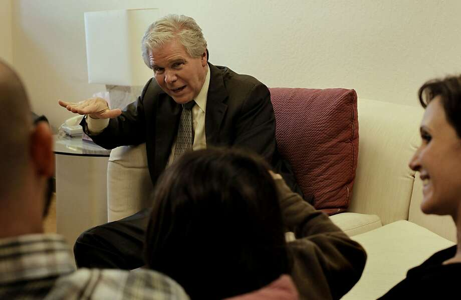 """Pediatrician, Dr. Lawrence Diller, meets with the Romano family, 8-year-old Sophia, Anthony and Jennifer, at his office in Walnut Creek, Ca., on Tuesday April 19, 2011. Dr. Diller has written a new book entitled, """"Remembering Ritalin"""". Photo: Michael Macor, The Chronicle"""