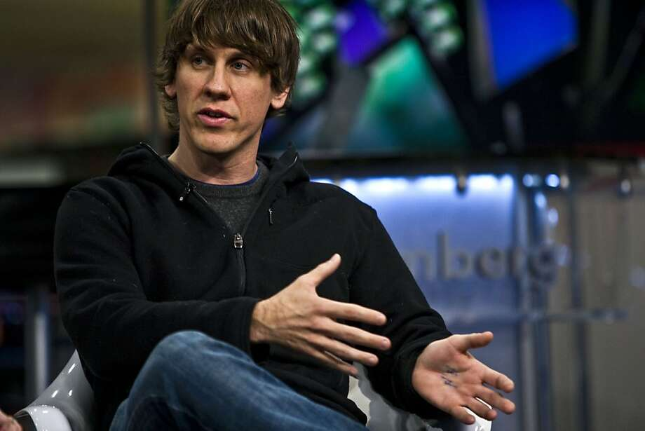 "Dennis Crowley, co-founder and chief executive officer of Foursquare Labs Inc., speaks during a Bloomberg Television interview in New York, U.S., on Friday, Feb. 11, 2011. Foursquare lets users ""check in"" using mobile phones when they visit a place or business. Users can see who else has checked in at locations, review businesses and get suggestions for things to do nearby. Photo: Chris Goodney, Bloomberg"