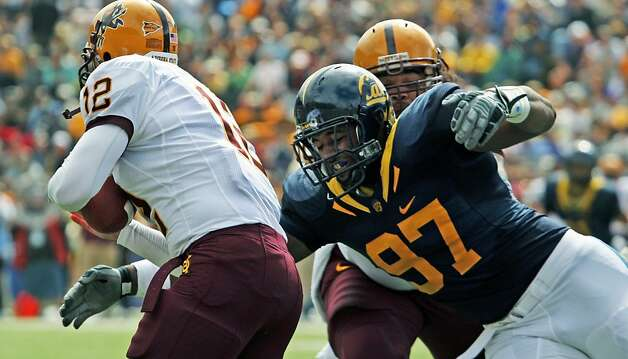 California Cameron Jordan rushes Arizona State Quarterback Rudy Carpenter during the first half of NCAA football game in Berkeley, Calif. Saturday, Oct. 4, 2008. Cal defeated ASU 24-14 Photo: Lance Iversen, The Chronicle