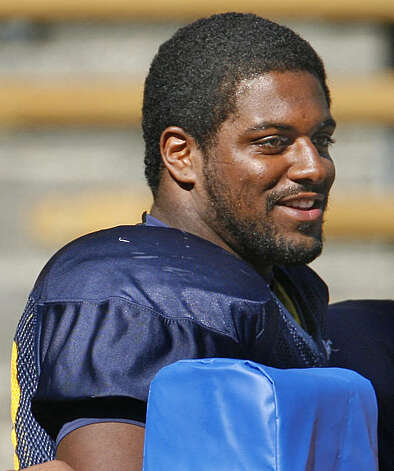 Cameron Jordan (No. 97) plays defensive end for the University of Calfornia Berkeley football team on August 21, 2008.  8/21/08 Photo: Frederic Larson, The Chronicle