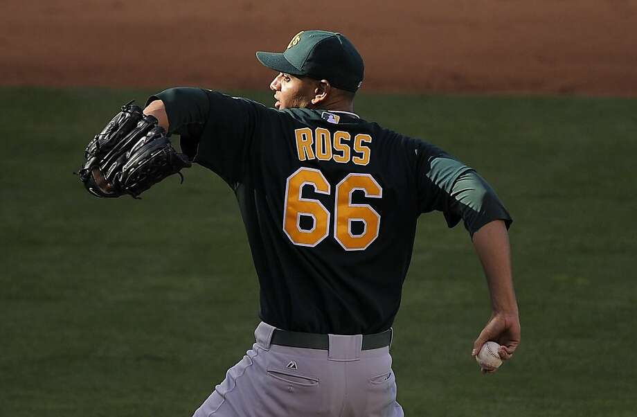 Oakland Athletics pitcher Tyson Ross throws to the plate during the sixth inning of their Major League Baseball game against the Los Angeles Angels, Wednesday, April 27, 2011, in Anaheim, Calif. Photo: Mark J. Terrill, AP