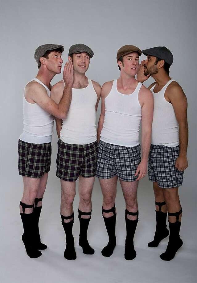 "Brian Fisher, Nol Simonse, Sean Dorsey and Juan de la Rosa in ""The Secret History of Love."" Photo: Lydia Daniller, Sean Dorsey Dance"