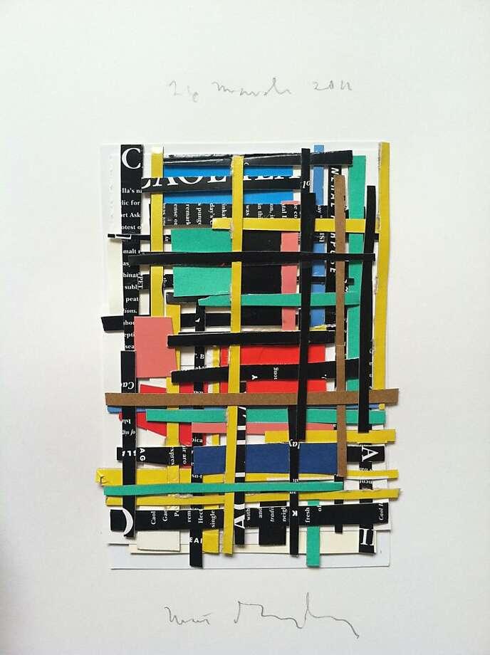 "A detail of ""Speech-grille"" (2011) by Matt Gonzalez, who works creates collages — the 'Scissors' half of the two-man show. Photo: Matt Gonzalez"