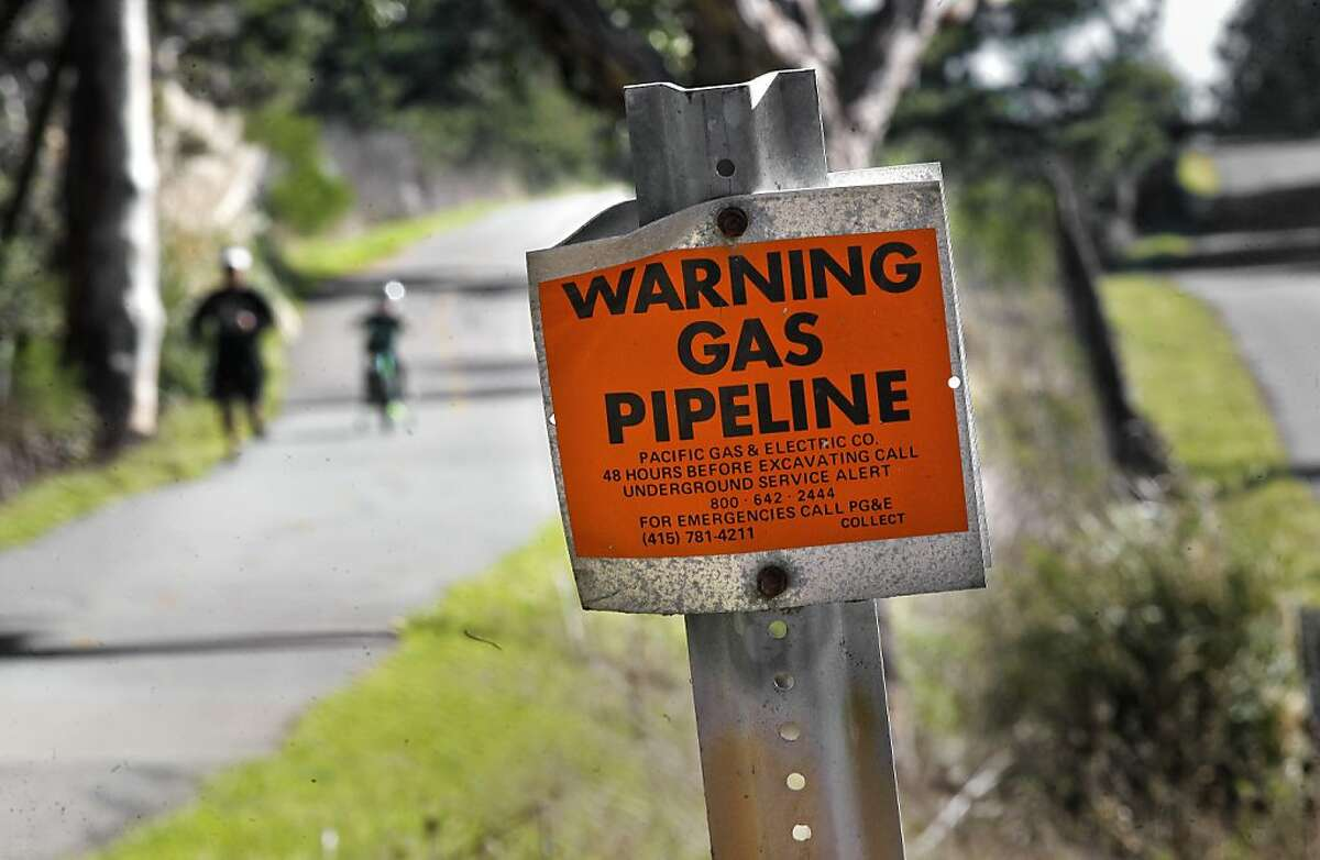 A gas pipeline, near Crystal Springs Reservoir, runs along the pedestrian pathway at Skyline Blvd. in San Bruno, Ca., Wednesday Jan. 5, 2011, about 1.5 miles south from September's gas pipeline explosion. The federal agency in charge of overseeing gas pipeline safety tells operators nationwide to