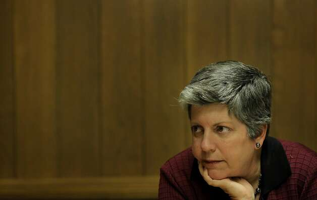 Homeland Security Secretary Janet Napolitano answers questions of the San Francisco Chronicle Editorial Board,  Monday April 25, 2011, in San Francisco, Calif. Among the issues she disgusted was border security and immigration. Photo: Lacy Atkins, The Chronicle