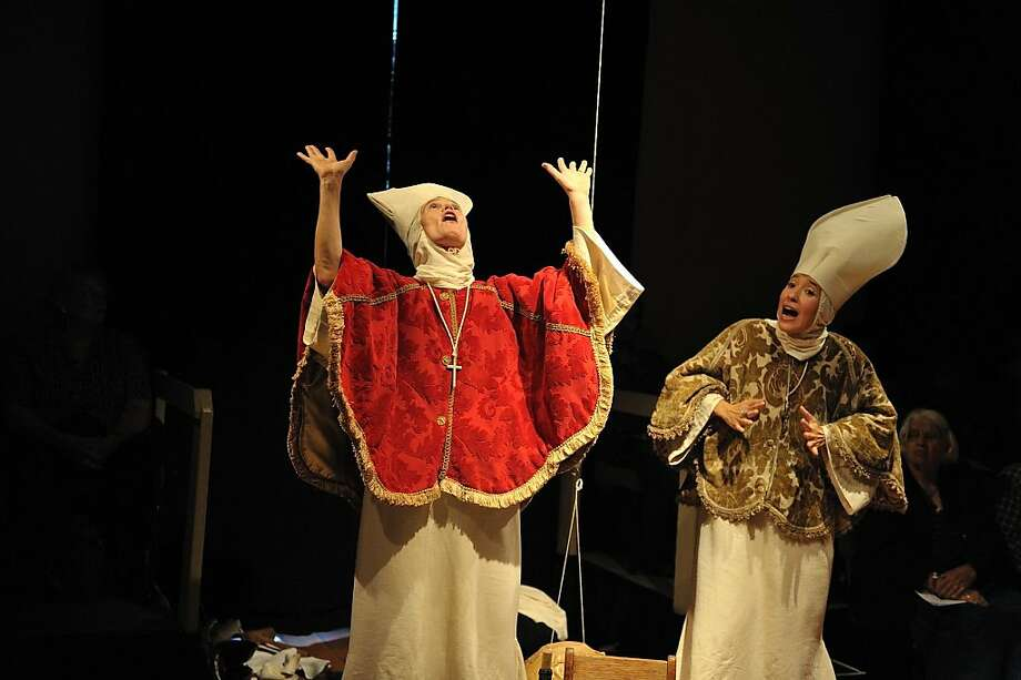 "Valentina Emeri (left) as Sister Celeste and Simone Bloch as Sister Arcangela, the title characters in Giulio Cesare Perrone's ""Galileo's Daughters"" Photo: John Spicer"