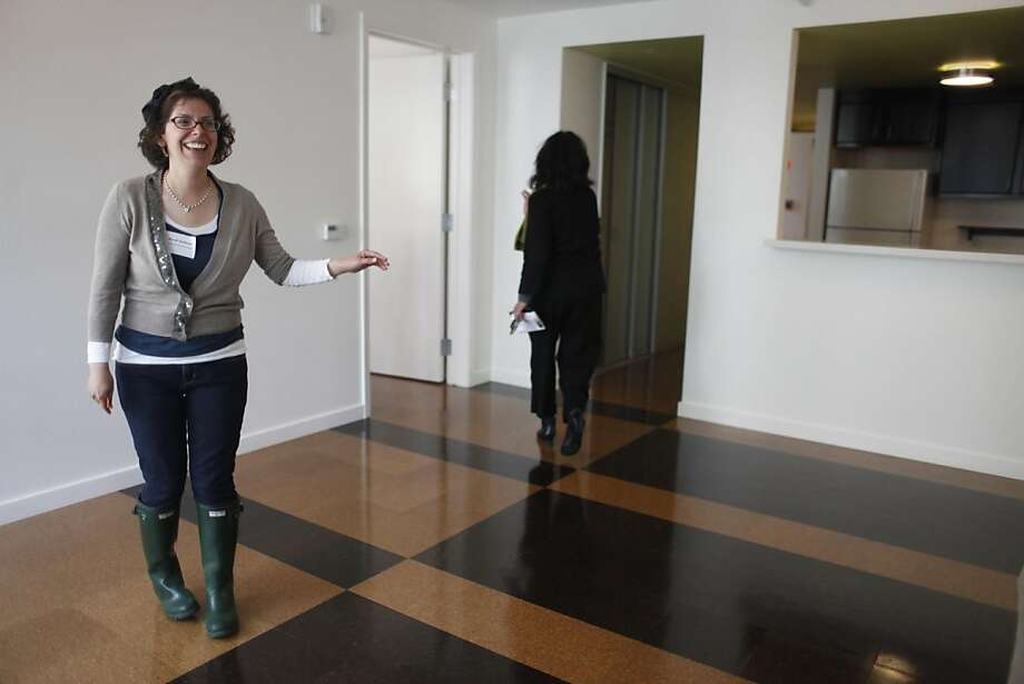"After waiting six for an affordable housing unit that met all of her needs, Sarafina Hoffman, 27, stands in her new one bedroom apartment at St. Peter's Place, a complex of 19 affordable apartments for adults with developmental disabilities that was built to LEED and GreenPoint rated green standards, on Monday April 25, 2011 in San Francisco, Calif.  ""Its a great way to be able to express my independence,"" said Hoffman. Photo: Mike Kepka, The Chronicle"