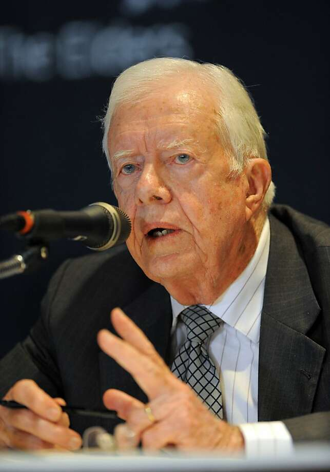 Former President of the US Jimmy Carter speaks at a press conference after his trip to North Korea in Seoul on April 28, 2011.  North Korean leader Kim Jong-Il has expressed willingness to hold unconditional talks with the United States and South Korea, former US President Jimmy Carter said on his return from Pyongyang. Photo: Jung Yeon-je, AFP/Getty Images