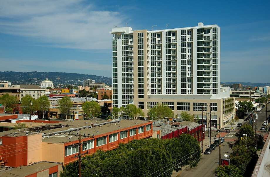 The Ellington is a new condominium tower near Jack London Square that adds another element to Oakland's waterfront, both culturally and architecturally. Photo: Courtesy The Ellington