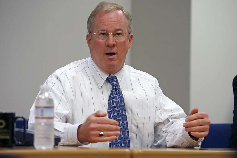 "Peter Darbee,CEO of Pacific Gas and Electric co. for ""on the Record"" series . talking about the company's environmental initiatives.  DARBEE_0010_KR.jpg  Kurt Rogers / The Chronicle Photo: Kurt Rogers, SFC"