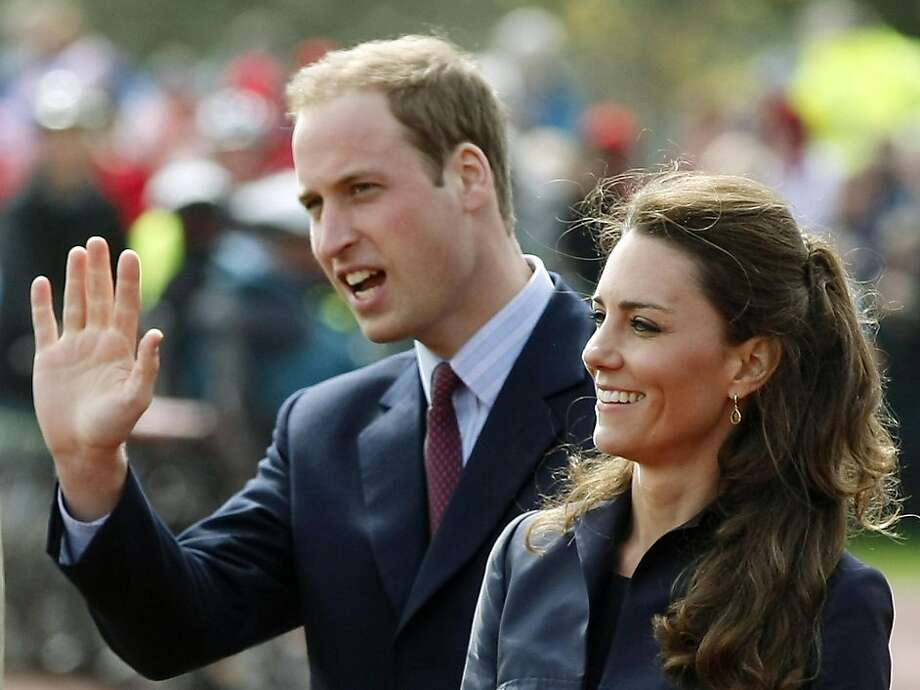 FILE -  This Monday April 11, 2011 file photo shows Britain's Prince William accompanied by his fiancee Kate Middleton, as they arrive at Witton Country Park, Darwen, England. The full list of confirmed guests attending the royal wedding of Prince William and Kate Middleton was released by Britain's monarchy Saturday April 23, 2011. Soccer star David Beckham and his wife Victoria were among the most recognizable names on the list of guests at the April 29 nuptials. Royal family members from countries including Bahrain, Denmark, Spain and Morocco will also attend. Other guests include government officials, Afghan war veterans, and charity workers.  (AP Photo/Tim Hales, File) Photo: Tim Hales, ASSOCIATED PRESS