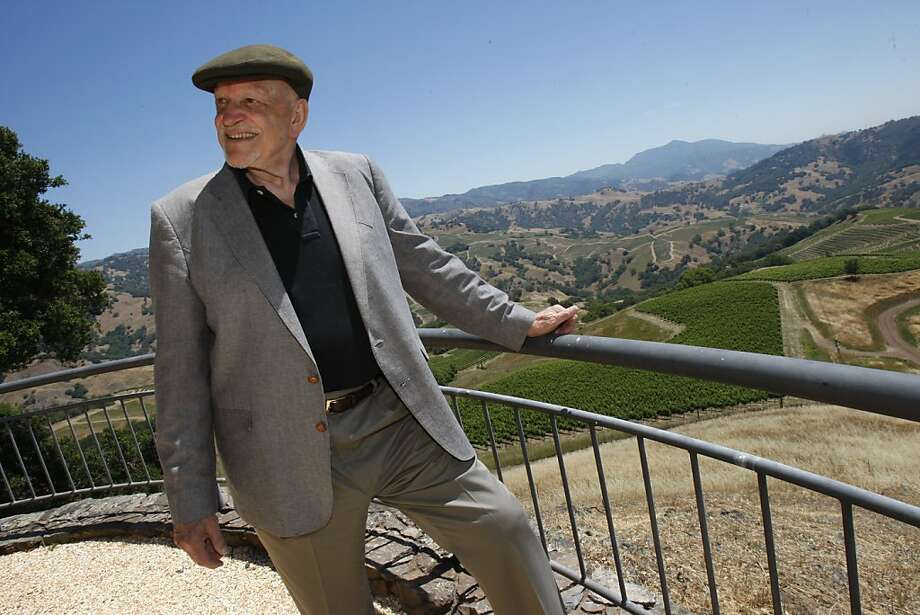 Jackson says California wines are as good or better than any French wine as he stands atop his ranch on Alexander mountain. Jess Jackson, winemaker turned racehorse owner, at his ranch near Geyserville still calls himself a farmer as he roams around on his huge estate on Alexander mountain. Photo: Brant Ward, The Chronicle