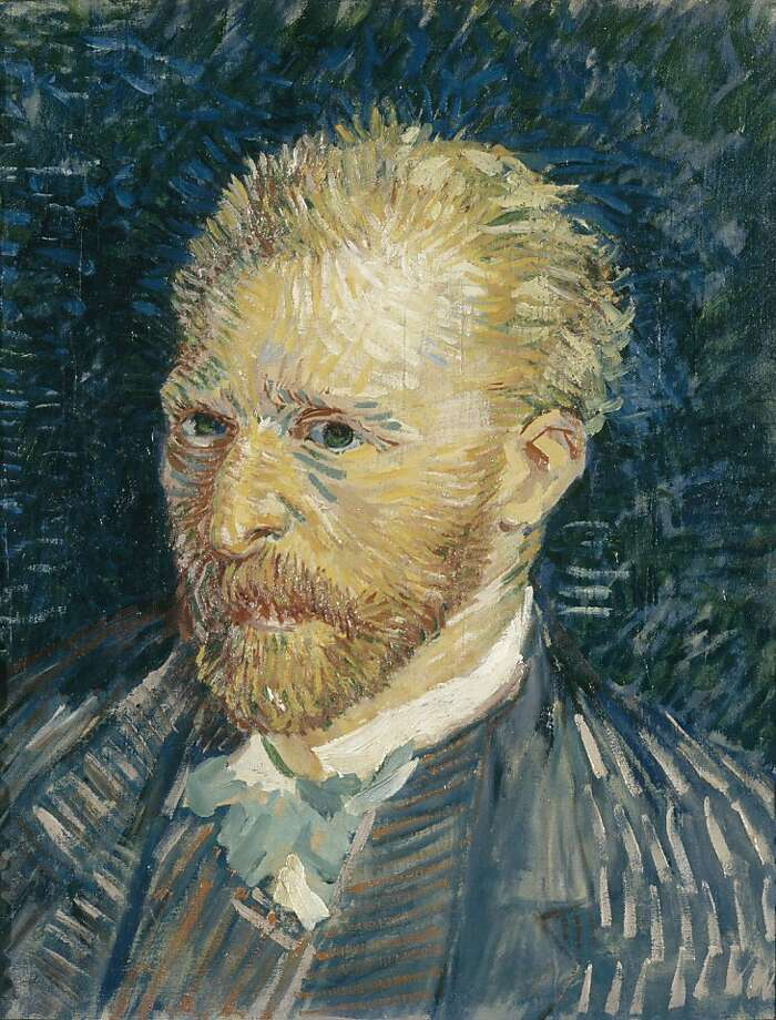 """""""Portrait of the Artist"""" (1887) oil on canvas by Vincent van Gogh    Ran on: 04-24-2011 Works by Vincent van Gogh came to San Francisco in 1936. Photo: Unknown, Musee D'orsay, Paris"""