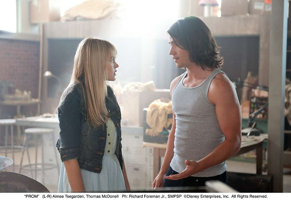 """(L-R) Aimee Teegarden, Thomas McDonell in """"Prom."""""""