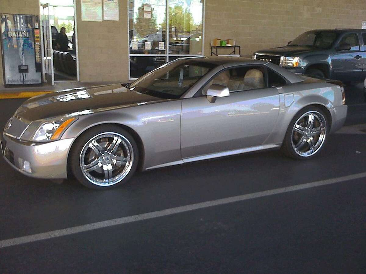The 2004 Cadillac XLR that Kwixuan Maloof, managing attorney of the felony unit in the San Francisco public defender's office, was driving when he was pulled over by Alameda County sheriff's deputies in March 2010. Maloof is suing the Sheriff's Department, saying the stop amounted to racial profiling.