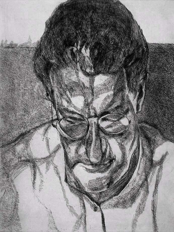 """The Painter's Doctor"" (2005-06) etching by Lucian Freud Photo: Unknown, Jhon Berggruen Gallery. S.f."
