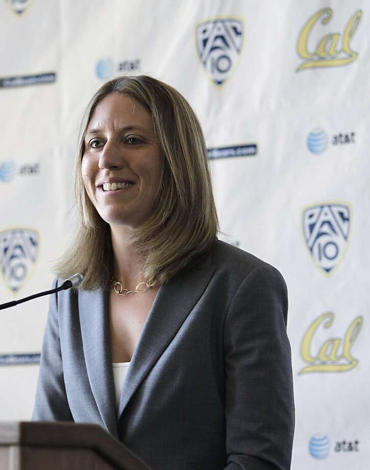 California's newly named women's basketball coach, Lindsay Gottlieb, smiles during a newsconference Tuesday, April 26, 2011, in Berkeley, Calif. Photo: Ben Margot, AP