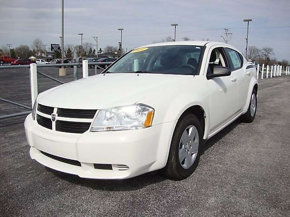 Suspects in a double homicide April 25 at Sweet Jimmie's restaurant in Oakland are believed to have been driving a white Dodge Avenger similar to this one.