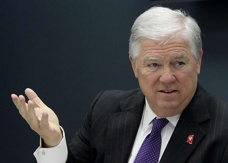 Mississippi Gov. Haley Barbour, shown here in a March 28, 2011 meeting in Biloxi, Mississippi, said Monday, April 25, 2011, that he won't seek the Republican nomination for president next year. (Drew Tarter/Biloxi Sun Herald/MCT) Photo: Drew Tarter, MCT
