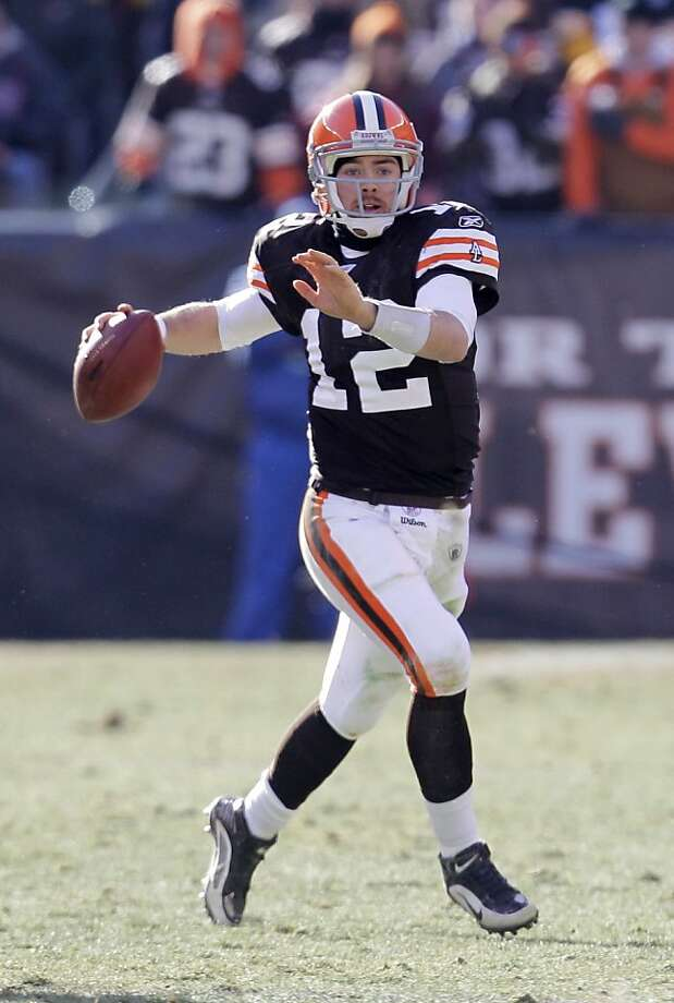 FILE - In this Jan. 2, 2011 file photo, Cleveland Browns quarterback Colt McCoy looks for a receiver during an NFL football game against the Pittsburgh Steelers in Cleveland. McCoy has organized workouts in Texas for a few of his teammates during the NFLlockout. Photo: Tony Dejak, AP