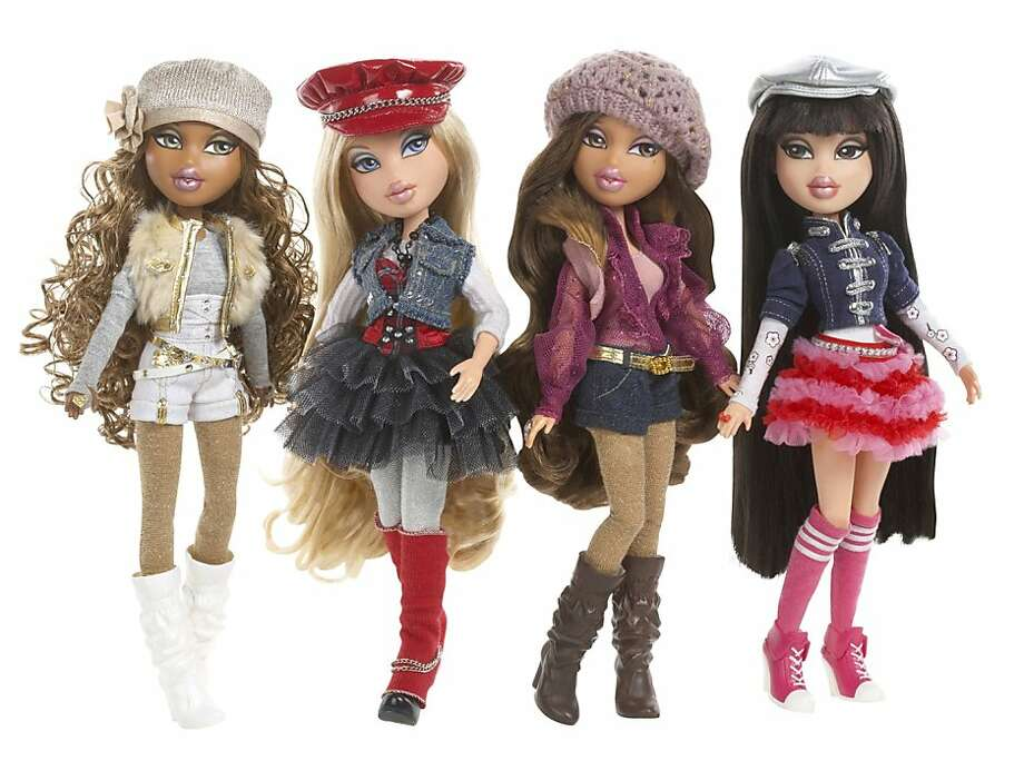 """FILE - This file product image provided by MGA Entertainment shows part of the 2010 collection of Bratz dolls. A doll designer conceived and began developing the popular, multi-billion dollar Bratz doll line while working for toy giant Mattel Inc. before taking the idea to a relatively new company that went on to build a thriving, competitive business with the dolls,  The allegation came during closing arguments in the three-month federal copyright infringement and trade secrets trial pitting Mattel against Los Angeles-based MGA Entertainment Inc., which exploded onto the toy scene in 2001 with the hip hop-inspired dolls marketed to the """"tween"""" generation. The jury got the case late Friday and will begin deliberations on Monday. Hundreds of millions of dollars and the rights to a blockbuster toy are at stake in the complex case that has dragged on for six years. (AP Photo/MGA Entertainment, File) NO SALES Photo: MGA Entertainment, AP"""