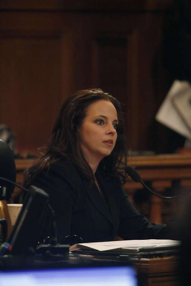 Supervisor Michela Alioto-Pier listens to a speaker during the San Francisco Board of Supervisors meeting at City Hall in San Francisco, Calif. on Tuesday May 4, 2010. Photo: Lea Suzuki, The Chronicle