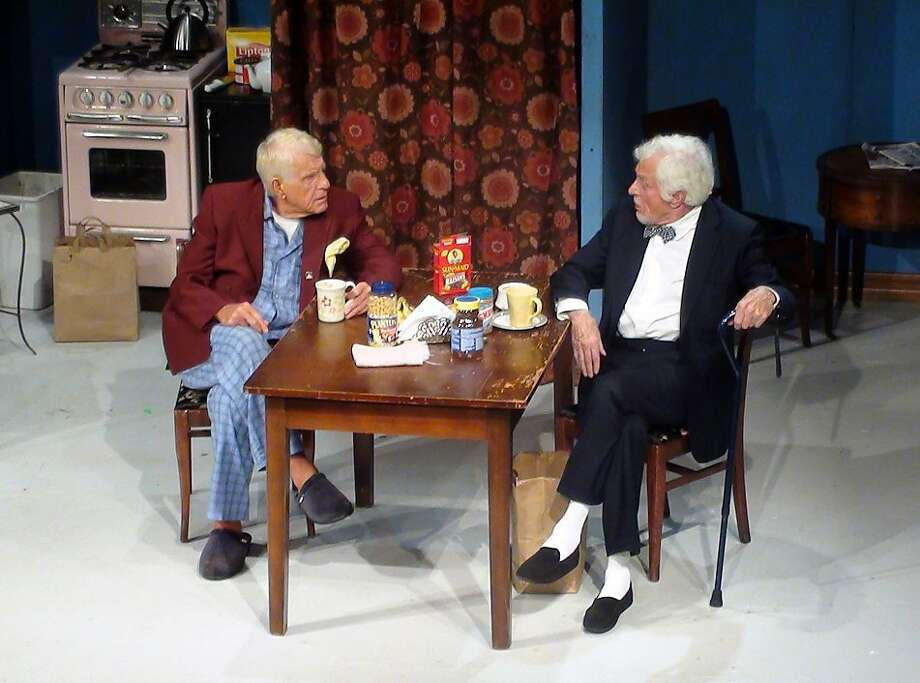 """In this theater publicity image released by Jonas PR, Jerry Van Dyke, left, and his brother Dick Van Dyke are shown during a benefit performance of Neil Simon's """"The Sunshine Boys,"""" at the Malibu Stage Company on April 15, 2011, in Malibu, Calif. Photo: Shirley Van Dyke, AP"""