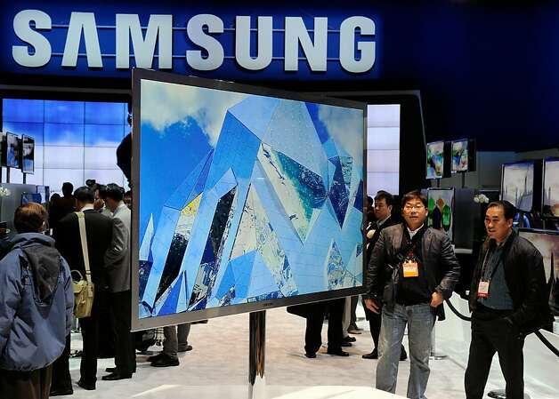 LAS VEGAS, NV - JANUARY 06:  Samsung's protoype D9500 Series 75-inch, full-HD, 3-D LED television is displayed at the 2011 International Consumer Electronics Show at the Las Vegas Convention Center January 6, 2011 in Las Vegas, Nevada. CES, the world's largest annual consumer technology tradeshow, runs through January 9 and is expected to feature 2,700 exhibitors showing off their latest products and services to about 126,000 attendees. Photo: Ethan Miller, Getty Images