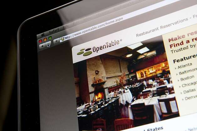 he OpenTable Inc. website is displayed for a photograph in New York, U.S., on Wednesday, Aug. 31, 2011. Photographer: Scott Eells/Bloomberg The OpenTable Inc. website is displayed for a photograph in New York, U.S., on Wednesday, Aug. 31, 2011. Photographer: Scott Eells/Bloomberg Photo: Scott Eells, Bloomberg
