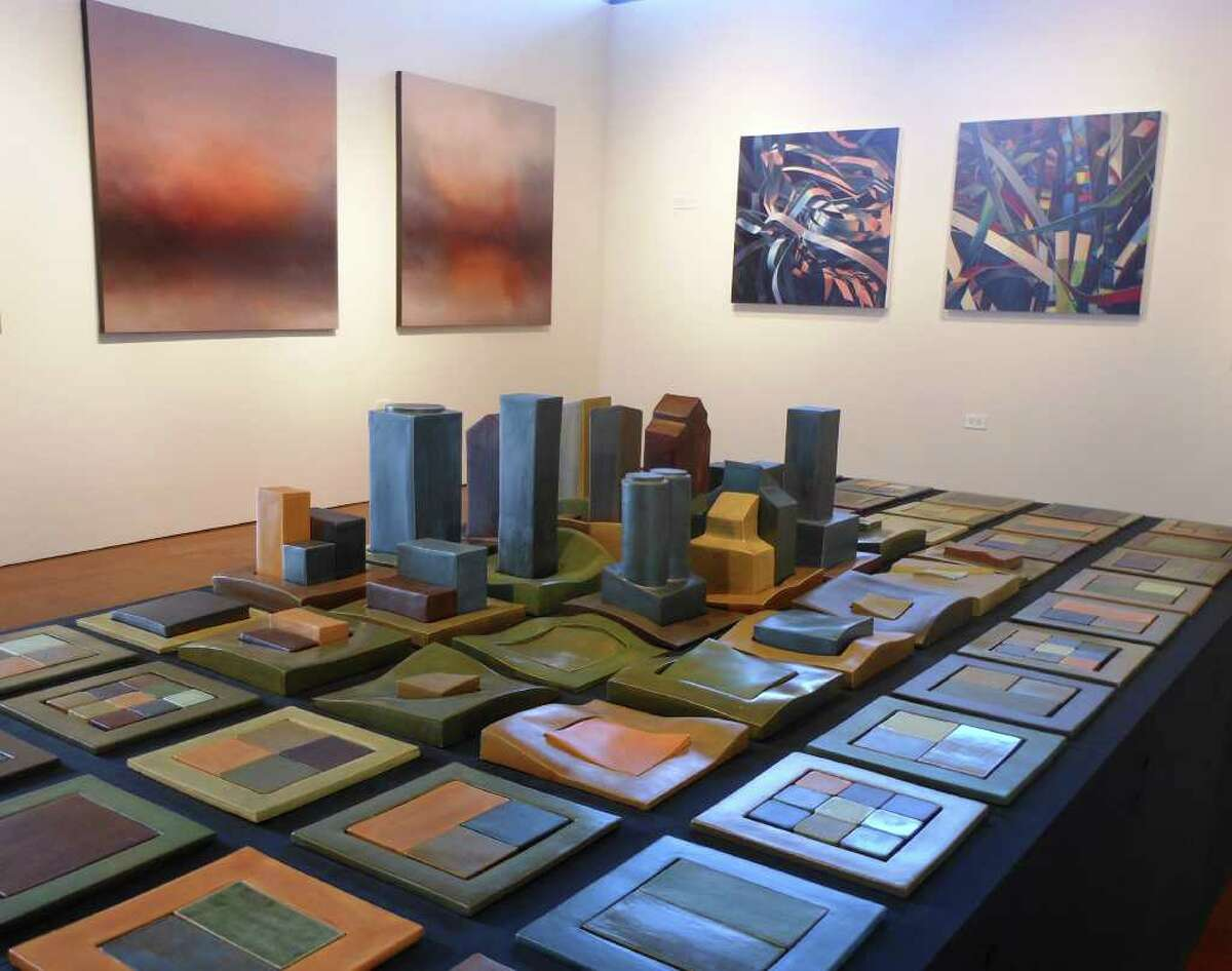 Chandler Romeo's ceramic cityscape is featured in